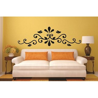 Asmi Collections PVC Wall Stickers Beautiful Floral Design