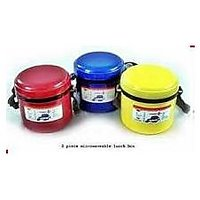 Blueplast Hot Lunch Box With 2 Pcs. Stainless Steel Containers