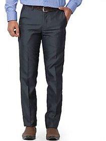 Merakapda Men's Black Regular Fit Formal Trousers