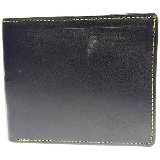 Vagan-Kate blue plain leather wallet for men