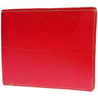 Vagan-Kate red plain leather wallet for men