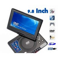 High Quality 9.8 Inch Dvd Evd With 3D Led Display With Game/Usb/Micro Sd/Tv Tuner