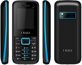 IKall K88 BlackBlue 1.8 InchDual Sim  No Earphones  Made in India