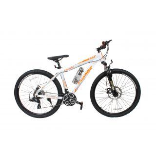 1188b81312e Buy Cosmic Trium 27.5 Inch Mtb Bicycle 21 Speed White/Orange-Premium  Edition Online @ ₹12800 from ShopClues