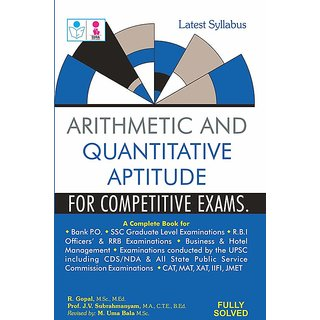 Arithmetic and Quantitative Aptitude for Competitive Exam Book