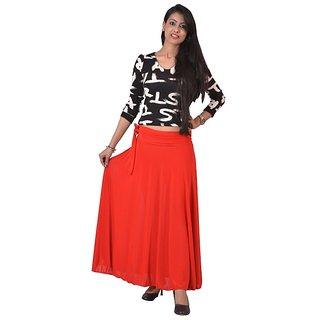 Ace long Skirt Red