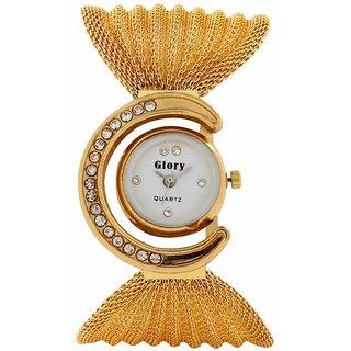 Glory G-511 Gold Metal Bracelet watch for Girls  Women