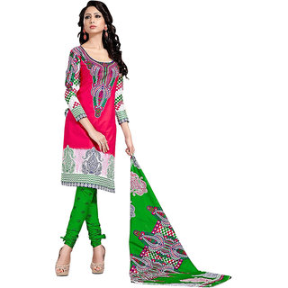 Pulp Mango Media Cotton Printed Salwar Suit Dupatta Material PM1189