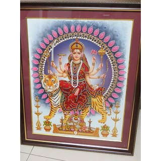 Buy Maa Durga Poster With Fiber Glass Frame Online Get 0 Off