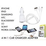 4 In 1 Car Charger For Iphone 4,for Iphone 5,for Samsung P1000,micro Usb