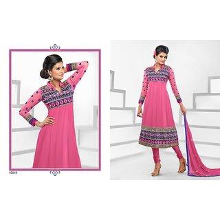 Georgette Anarkali Semi Stitched Dress