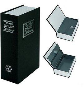 Metal Book Shape Homesafe Book Safe with Keys - Secret Spy Hidden Safe Locker