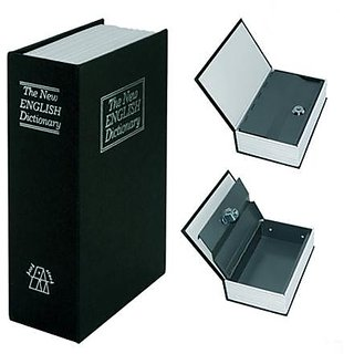 Metal Book Shape Homesafe Book Safe with Keys - Secret Spy Hidden Safe Locker
