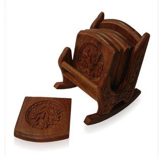 Wooden COASTER SET Chair design TEA/COFFEE Home Decorative Handicraft Gift item