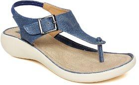 Vendoz Stylish Denim Fabric Sandals