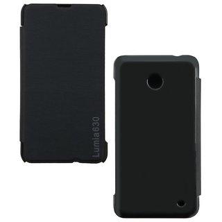 Snaptic Nokia Lumia 630 Flip cover  Black