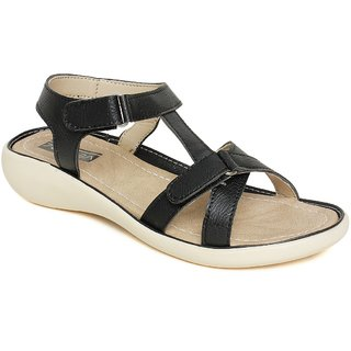 Vendoz Stylish Black Sandals