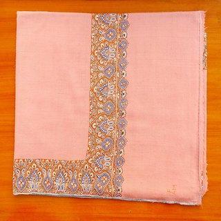 Pashmina pure handmade embroidery border kashmir shawl