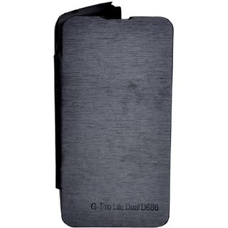 Snaptic Flip Cover For Lg G Pro Lite Dual D686 Black