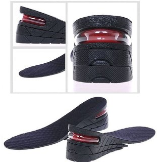 3 Layer Men Shoe Insole Air Cushion Heel insert Increase Taller Height Lift 6 cm