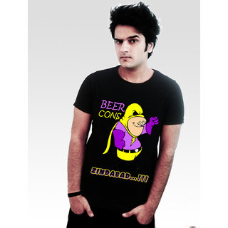 INCYNK Beer- Consss Zindabad T-Shirt- MSS89_BLACK
