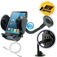 Car Mount Cradle Holder Windshield Mobile / GPS Suction Holder Stand With Photo Frame + Audio Aux