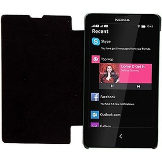 Snaptic Nokia X Flip Cover Black