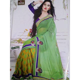 Green Gem Cotton Saree