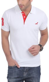 American Crew Mens Polo White T Shirt