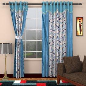 Sapphire Blue Polyster Door Curtain