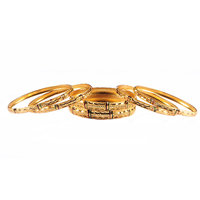 Luxor Set of 6 Gold plated Bangles 7003