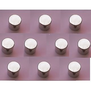 Neodymium N52 Magnet set of 10 pieces, 6 x 6 mm cylindrical