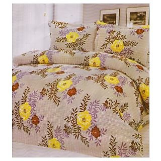 Shiv Kirpa Double bedsheet With 2 Pillow Covers