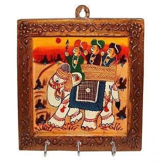 Paramsai Wooden Rajasthani Painting Key Holder
