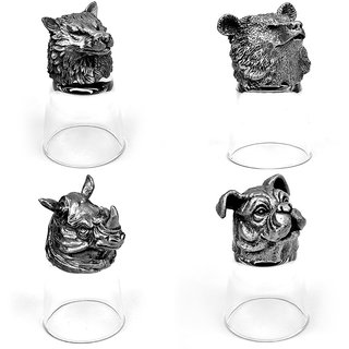 Animal Head Shot Glasses,50ml,Set of 4