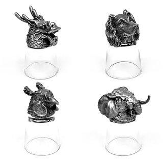 Animal Head Shot Glasses,50ml,Set of 4