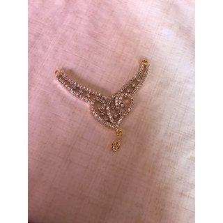 Designer Heart shape pendal Mangalsutra With Black Beaded Chain