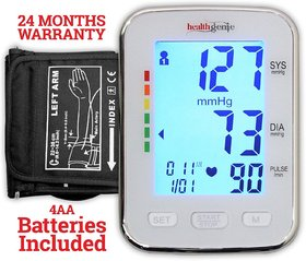 Healthgenie BP Monitor digital Upper arm BPM 04BL Automatic