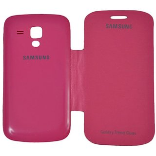 Snaptic Pink Flip Cover for Samsung Galaxy S Duos S7562 Duos 2 S7582