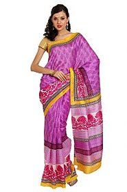 Parchayee Pink Cotton Striped Saree With Blouse