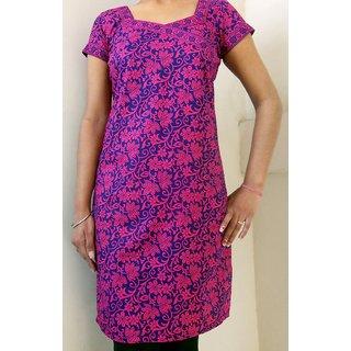 Shakuntalam Printed Cotton Pink Kurti 1802P