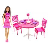 Barbie African American Doll And Dining Room Gift Set