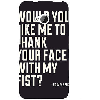 1 Crazy Designer SUITS Quotes Back Cover Case For HTC One M7 C190485