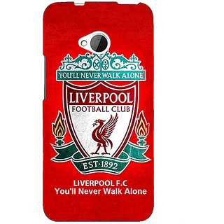 1 Crazy Designer Liverpool Back Cover Case For HTC One M7 C190542