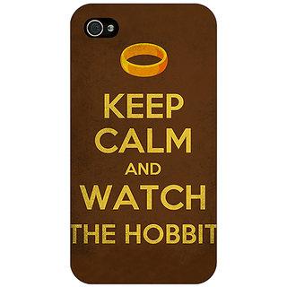 1 Crazy Designer LOTR Hobbit  Back Cover Case For Apple iPhone 4 C10376