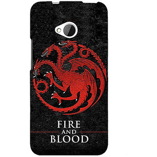 1 Crazy Designer Game Of Thrones GOT House Targaryen  Back Cover Case For HTC One M7 C190200