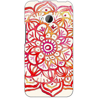1 Crazy Designer Flower Floral Pattern Back Cover Case For HTC One M7 C190204