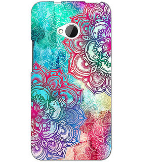 1 Crazy Designer Hot Doodle Pattern Back Cover Case For HTC One M7 C190210