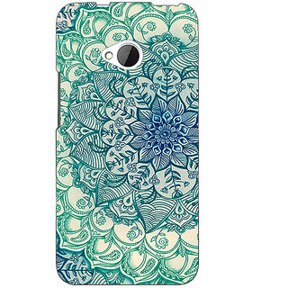 1 Crazy Designer Emerald Doodle Pattern Back Cover Case For HTC One M7 C190216