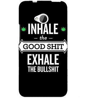 1 Crazy Designer Weed Quotes Back Cover Case For HTC One M7 C190500